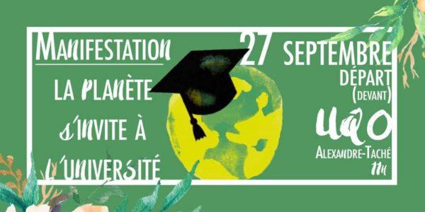 Un vendredi vert : mode d'emploi sur la Grève du climat à l'UQO