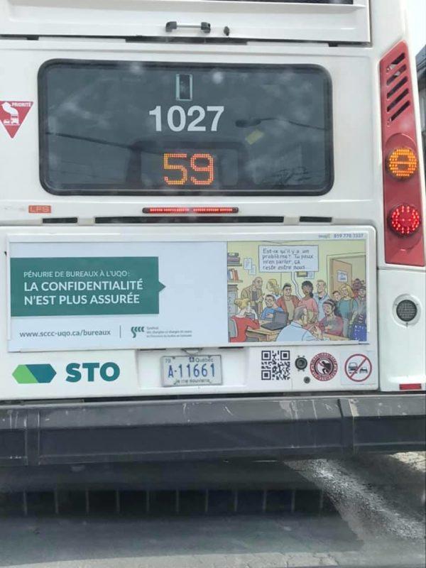 Les bus aux couleurs du SCCC-UQO circulent pour une seconde semaine
